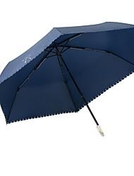 Недорогие -Ткань Жен. Солнечный и дождливой / Ветроустойчивый Складные зонты