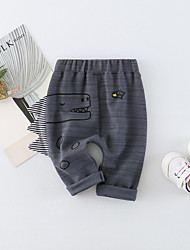 cheap -Baby Unisex Daily Solid Animal Print Pants, Cotton Spring Summer Cute Active Red Dark Gray Yellow
