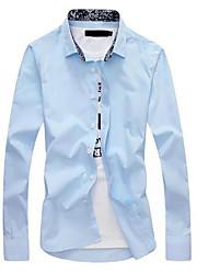 Pánské - Jednobarevné Business Košile, Plisé