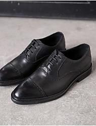 Pánské Obuv Nappa Leather Jaro Léto Pohodlné Oxfordské pro Ležérní Kancelář a kariéra Černá Hnědá