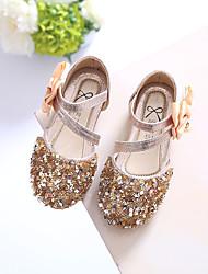 Недорогие -Девочки Обувь Лак Лето Обувь для малышей Сандалии Кристаллы для Золотой / Серебряный / Розовый
