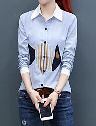 cheap -Women's Work Business Street chic Shirt - Geometric, Print Shirt Collar