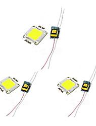 baratos -3pçs Chip LED Alimentação Alumínio Acessório de lâmpada