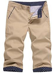 cheap -Men's Plus Size Cotton Slim Shorts Chinos Pants - Solid Colored Print Low Waist