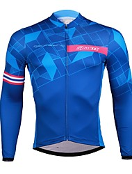 cheap -SPAKCT Men's Long Sleeves Cycling Jersey - Blue Bike Jersey, Quick Dry