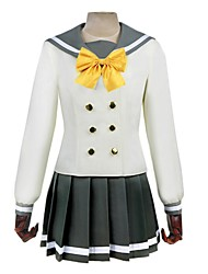 cheap -Inspired by Love Live Other Anime Cosplay Costumes Cosplay Suits Other Long Sleeves Cravat Top Skirt Socks For Unisex