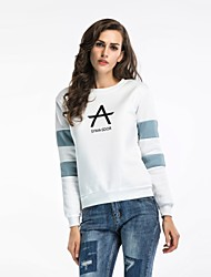 cheap -Women's Holiday Cotton Sweatshirt - Letter, Print