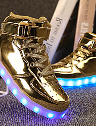 cheap -Boys' Shoes PU Spring Comfort / Light Up Shoes Sneakers Walking Shoes Lace-up / Hook & Loop / LED for Silver / Blue / Pink