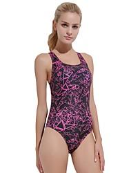 baratos -Mulheres roupa de banho Resistente ao cloro, Confortável, Esportes Fibra Sintética / Elastano Sem Manga Roupa de Banho Roupa de Praia Body Reativo Natação