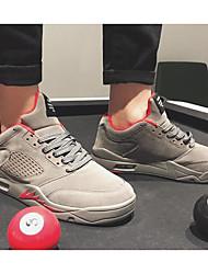 baratos -Homens sapatos Courino Inverno Outono Conforto Tênis para Casual Preto Cinzento