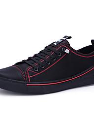 Недорогие -Муж. обувь Дерматин Кожа Весна Лето Удобная обувь Кеды для Повседневные Черный Черный/Красный