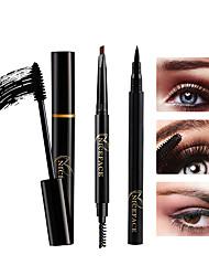 abordables -Máscara Lápices de Ojos Nivel profesional Portátil 3 pcs Maquillaje Seco 1 Cosmético Útiles de Aseo