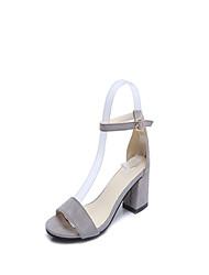 preiswerte -Damen Schuhe PU Frühling Sommer Komfort Pumps High Heels Stöckelabsatz Runde Zehe für Kleid Party & Festivität Weiß Schwarz Rosa