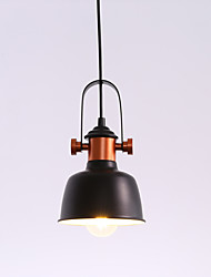 preiswerte -Vintage-Industrie-Stil Loft Pendelleuchten schwarz Metall Schatten Bars Küche Esszimmer Lampe