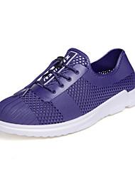 preiswerte -Herrn Schuhe maßgeschneiderte Werkstoffe Sommer Komfort Sandalen für Normal Draussen Schwarz Grau Blau