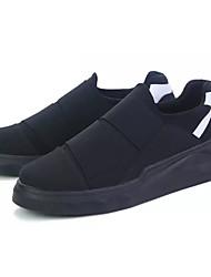 Homens sapatos Couro Ecológico Primavera Outono Conforto Tênis para Casual Preto Branco/Preto