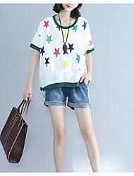 baratos -Mulheres Camiseta Activo Básico Estilo Moderno,Estrelas