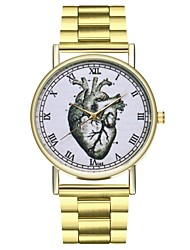 cheap -Women's Chinese Chronograph / Casual Watch / Punk Stainless Steel Band Cartoon / Minimalist Gold / Large Dial / SSUO LR626