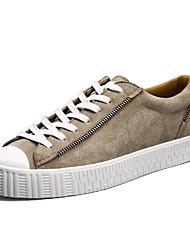 男性用 靴 ピッグスキン 春 秋 コンフォートシューズ スニーカー のために カジュアル ブラック グレー カーキ色