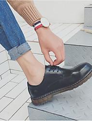 Недорогие -Муж. обувь Кожа Весна Осень Армейские ботинки Ботинки Ботинки для Повседневные Черный Темно-синий Вино