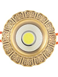 preiswerte -ZHISHU 1pc 9W 1 LEDs Leicht zu installieren Einbaulampe Dreifarbig LED Deckenstrahler 110-120V 220V-240V