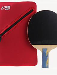 Недорогие -DHS® E502 Ping Pang/Настольный теннис Ракетки Дерево Ластик 5 Звезд Длинная рукоятка Прыщи