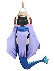 baratos -Inspirado por Miss Kobayashi's Dragon Maid Fantasias Anime Fantasias de Cosplay Ternos de Cosplay Vestidos Outro Manga Curta Manga Longa