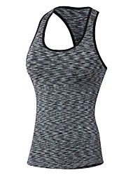 cheap -Women's Muscle Tee Sleeveless Breathability Tank for Exercise & Fitness Polyester Black Purple Red Green Blue S M L XL XXL