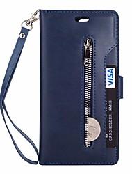 Недорогие -Кейс для Назначение Huawei Mate 10 lite Mate 10 Бумажник для карт Кошелек со стендом Чехол Сплошной цвет Твердый Кожа PU для Mate 10 Mate