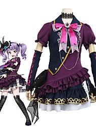 baratos -Inspirado por BanG Dream Fantasias Anime Fantasias de Cosplay Ternos de Cosplay Outro Manga Curta Peitilho Vestido Mais Acessórios Para
