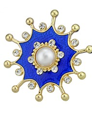cheap -Women's Brooches , Imitation Pearl Basic Fashion Alloy Flower Blue Jewelry For Daily Date