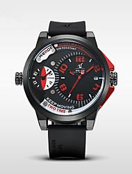 Недорогие -WEIDE Муж. Кварцевый Модные часы Спортивные часы Японский Календарь Крупный циферблат Повседневные часы С двумя часовыми поясами