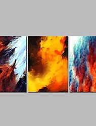 Недорогие -Отпечатки на холсте Современный, 3 панели холст Горизонтальная панорама С картинкой Декор стены Украшение дома