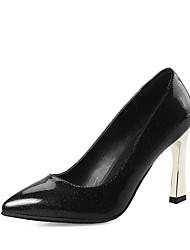 abordables -Femme Chaussures Cuir Verni Printemps Eté Escarpin Basique Chaussures à Talons Talon Bottier Bout pointu pour Bureau et carrière Soirée &