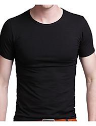 preiswerte -Herrn Solide T-shirt, Rundhalsausschnitt