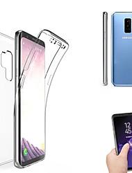Недорогие -Кейс для Назначение SSamsung Galaxy S9 / S9 Plus / S8 Plus Полупрозрачный Чехол Однотонный Мягкий Силикон