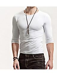cheap -Men's Simple T-shirt - Solid Colored Round Neck