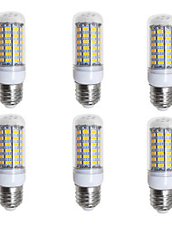 preiswerte -BRELONG® 6pcs 4W 400lm E26 / E27 LED Mais-Birnen 69 LED-Perlen SMD 5730 Warmes Weiß Weiß 200-240V