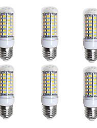 Недорогие -BRELONG® 6шт 4W 400lm E26 / E27 LED лампы типа Корн 69 Светодиодные бусины SMD 5730 Тёплый белый Белый 200-240V