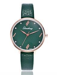 baratos -Mulheres Quartzo Relógio Elegante Relógio de Moda Relógio Casual Chinês Relógio Casual Lega Banda Casual Preta Branco Cinza Rosa Roxa