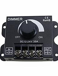 billiga -zdm 1pc 30a leddimmer dc12v-24v 360w justerbar ljusstyrka lampa bälte enhet monokrom fotoelektriska strömstyrenhet ledd för remsor ljus eller led lampa