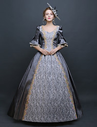 cheap -Baroque / Renaissance Costume Women's Dress / Outfits / Party Costume Gray Vintage Cosplay Polyster 3/4 Length Sleeve Puff / Balloon Sleeve Floor Length / Long Length Halloween Costumes