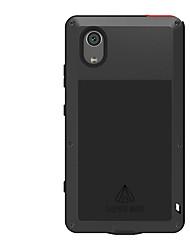baratos -Capinha Para Sony Xperia XA1 Plus Água / Dirt / à prova de choque Capa Proteção Completa Côr Sólida Rígida Metal para Xperia XA1 Plus