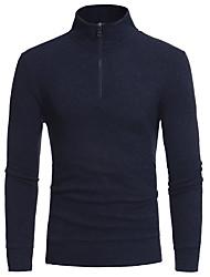 economico -Camicia - Taglie forti Per uomo Sport Tinta unita Cotone