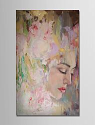 Ručno oslikana Sažetak Pejzaž Vertikalno, Moderna Platno Hang oslikana uljanim bojama Početna Dekoracija Jedna ploha