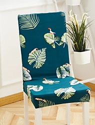 cheap -Contemporary 100% Polyester Jacquard Chair Cover, Simple Plants Printed Slipcovers
