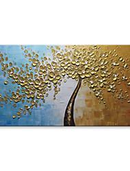 Pintados à mão Abstrato Floral/Botânico Horizontal, Contemprâneo Modern Tela de pintura Pintura a Óleo Decoração para casa 1 Painel