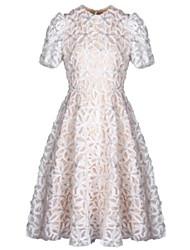 Žene A kroj Korice Haljina - Izbušeno, Jednobojni Cvjetni print