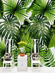 baratos -Árvores/Folhas Padrão 3D Decoração para casa Vintage Modern Revestimento de paredes, Tela de pintura Material adesivo necessário Mural,
