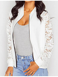 cheap -Women's Jacket - Solid Colored, Lace